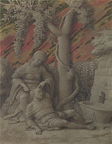 Oil Painting 'Andrea Mantegna - Samson And Delilah,about 1500', 18 x 23 inch / 46 x 59 cm , on High Definition HD canvas prints is for Gifts And Basement, - Cod Sunglasses Coupon