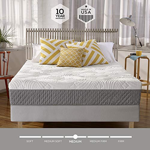 Sleep Innovations Shea 10 Inch Memory Foam Mattress Bed In A Box Made In The Usa 10 Year Warranty King Size