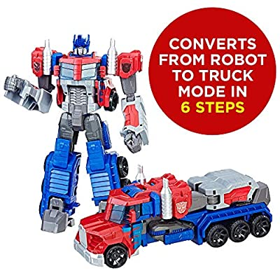 Transformers Toys Heroic Optimus Prime Action Figure - Timeless Large-Scale Figure, Changes into Toy Truck - Toys for Kids 6 and Up, 11-inch( Exclusive): Toys & Games