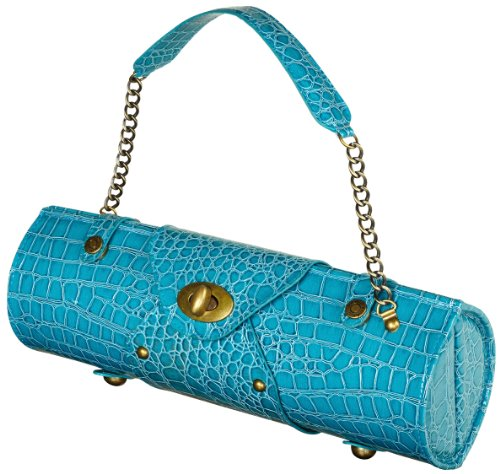 Picnic at Ascot Wine Purse - Turquoise
