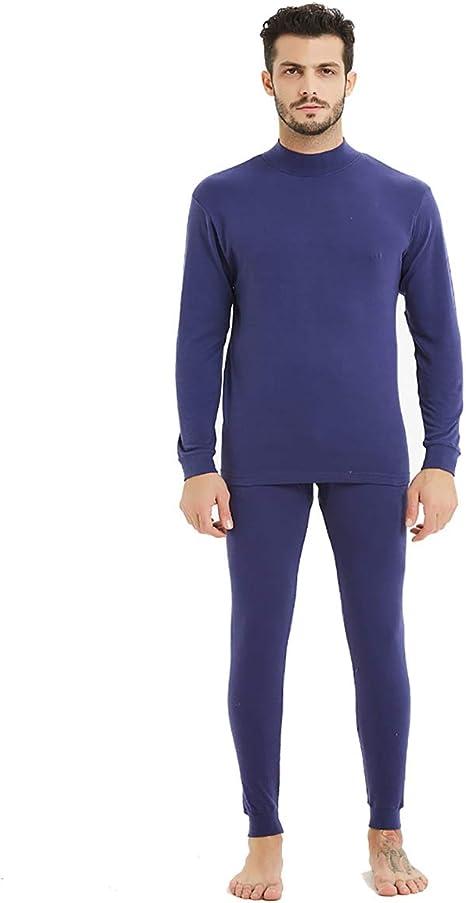 HECHEN Conjunto de Ropa Interior de algodón para Hombres - Cuello ...