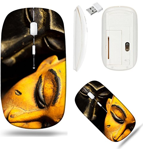 (Liili Wireless Mouse White Base Travel 2.4G Wireless Mice with USB Receiver, Click with 1000 DPI for notebook, pc, laptop, computer, mac book African Tribal Masks Photo 8385533)