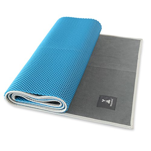 "Waffle Yoga Mat & Gummy Cush Yoga Towel Set - Foldable Yoga Mat & Silicone Backed, Ultra Thick Yoga Mat Towel - For All Yoga Types - Perfect For Hot Yoga - Makes a Great Travel Yoga Mat - 24"" x 72"""