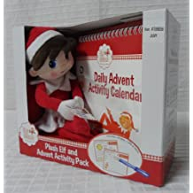 Elf on the Shelf Plush Elf and Advent Activity Pack - Girl
