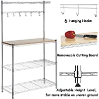 FCH 4-Tier Baker's Rack Microwave Oven Rack with Storage Kitchen Adjustable Storage Shelves