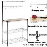 FCH 4-Tier Baker's Rack Microwave Oven Rack with Storage Kitchen Adjustable Storage Shelves