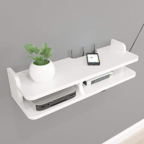 newest 5bf29 df6fd Amazon.com: Wall Shelf Floating Shelf Wall-Mounted TV Shelf ...