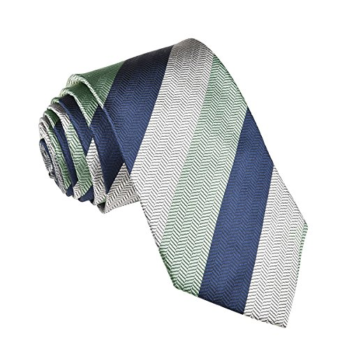 (VOBOOM 100% Silk Necktie Men Woven Ties Standard Length, Extra Long, 10 Styles (306, Regular Length 58