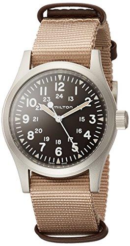 Hamilton H69429901 Khaki Field Mechanical Men's Watch Beige NATO Strap