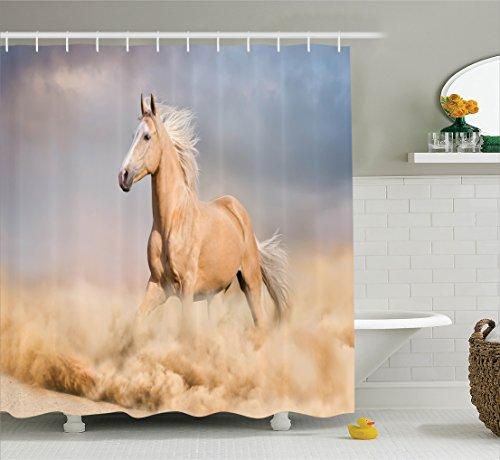 Curtain Ambesonne Palomino Bathroom Accessories