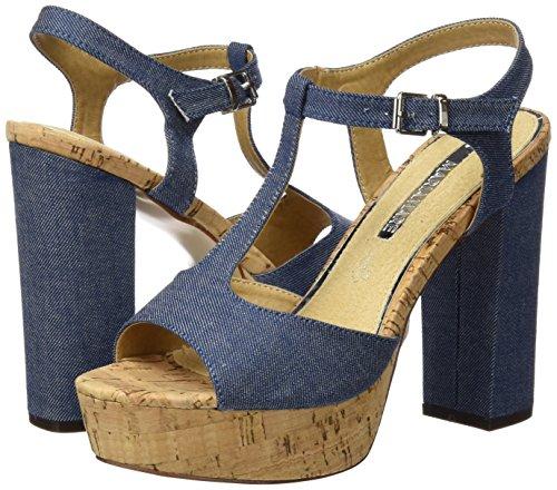 Mare Azul Mujer T Tira Azul A Sandalias Para Mareta Maria Con denim B7OqdBz