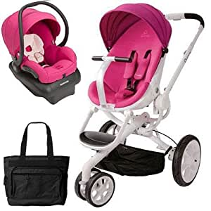 quinny cv078bfu moodd stroller travel system with diaper bag and car seat pink. Black Bedroom Furniture Sets. Home Design Ideas
