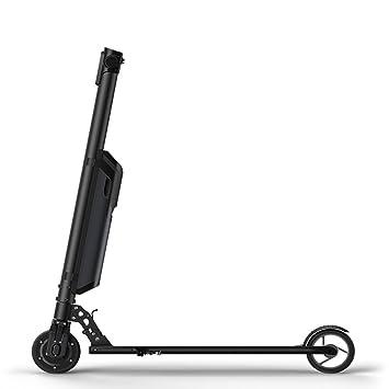 WJW - Patinete Eléctrico Plegable para Adulto y Bicicleta de Amortiguación en Besemi-Ultra Ligero