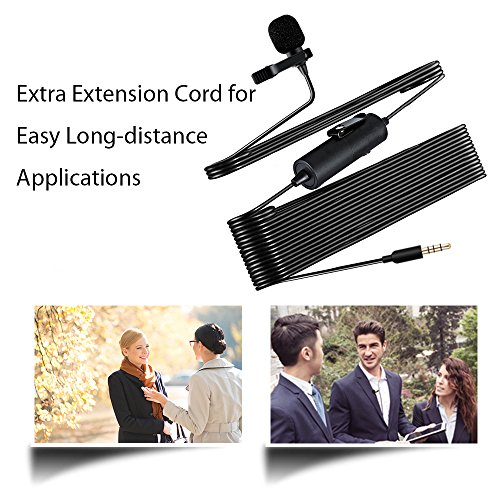 Lavalier Microphone, MAONO AU100 Hands Free Clip-on Lapel Mic with Omnidirectional Condenser for Podcast, Recording, DSLR,Camera,iPhone,Android,Samsung,Sony,PC,Laptop (236 in) by MAONO (Image #4)