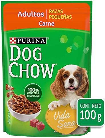 Dog Chow Alimento Húmedo Adultos Razas Pequeñas Carne, Paquete con 20 Piezas, 100g 3