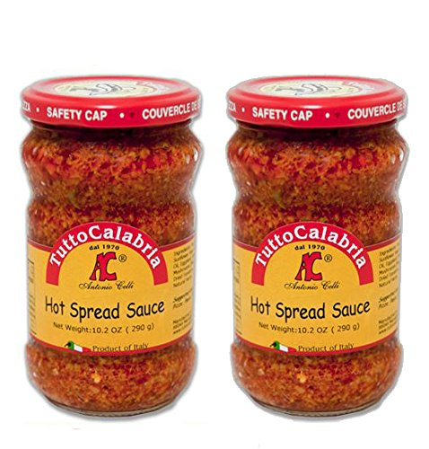 Tutto Calabria Hot Chili Pepper Spread. In Glass 2 Pack. Imported Calabria Italy. by Tutto Calabria
