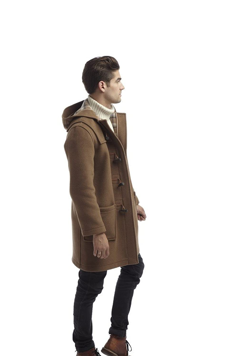 Original Montgomery Mens Duffle Coat  Toggle Coat at Amazon