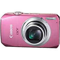 Canon Digital Camera IXY50S (Pink) IXY50S(PK) 10MPCMOS 10x Optical Zoom 3.0-inch WideDisplay fullHD - International Version