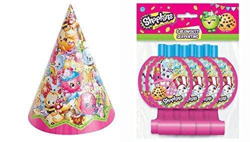 Shopkins party hats and Blowouts (8 Guests)