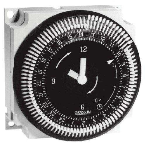 Grasslin by Intermatic FM1SWUZ-24U 7-Day 21A, SPDT Electromechanical Timer Module