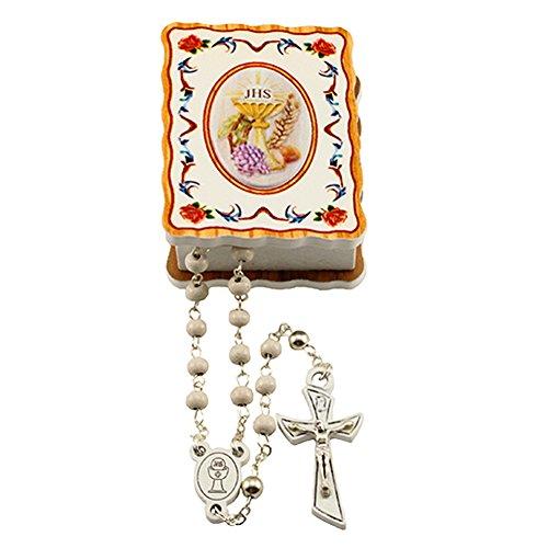First Communion Gift Set w/ Olive Wood Box