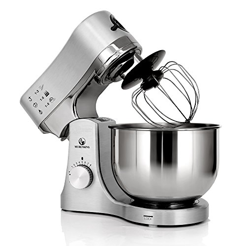 MURENKING Stand Mixer MK50G 650W 5-Qt 8-Speed Tilt-Head Kitchen Electric Food Mixer (Metal Brushed)