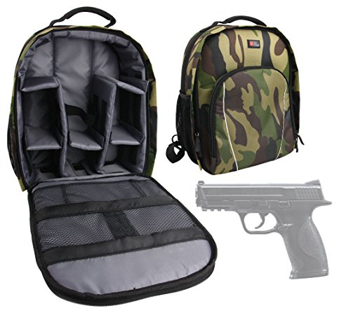 54804 XBG CO2 Power .177BB, 410 FPS Air Pistol Carry/Storage Bag - Premium Quality, Water-Resistant Camouflage Backpack with Customizable Interior & Raincover ()