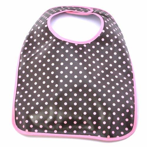 Infantissima Laminated Toddler Bib, Brown Small Pink Dot