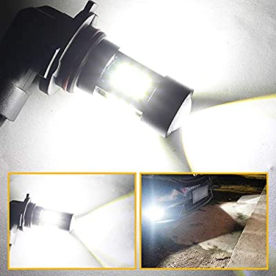 Boodlied 9-30V 1800LM 9005 HB3 LED Fog Light Bulbs Super Bright 3030 27-SMD Chips LED Lamps Direct Replacementr For DRL or Fog Lights, Xenon White.(2-Pack).: Automotive