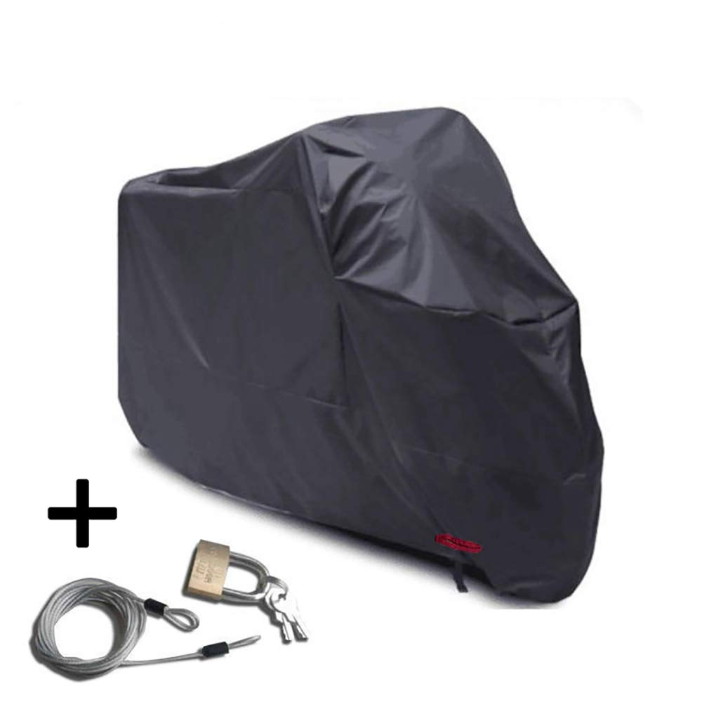 Motorcycle Cover, All Season Waterproof Outdoor Protection Precision Fit up to All Motors and Tour Bikes, Choppers and Cruisers Protect Against Dust, Rain and Weather GT08,Silver,L
