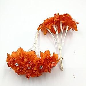 30 PCS Mini Rose Artificial Silk DIY Holiday Accessories Flower Diamond Bouquet For Wedding Decoration Scrapbooking Flower 2