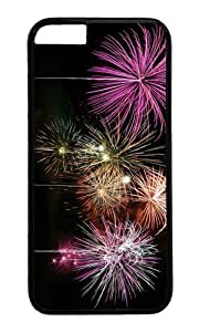 MOKSHOP Adorable holiday fireworks Hard Case Protective Shell Cell Phone Cover For Apple Iphone 6 (4.7 Inch) - PC Black