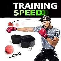Bola de Boxeo Charlemain Boxeo Cabeza Reflejo Bola , Boxeo Sombrero Con Bola , Entrenamiento coordinación de Ojo Mano Equipo de Boxeo Ajustable Bola para Mejorar la Capacidad de Respuesta, Mejorar la Velocidad y precisión