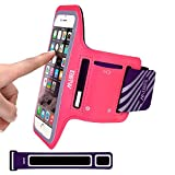 iPhone 5/5S/SE Running Armband Case Sweatproof,EOTW Cell Phone Sports Armband Pouch With Key Holder For Walking,Jogging,Gym,Cycling,Exercising (Pink,4 inch)