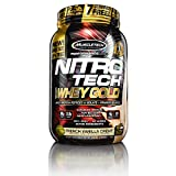 MuscleTech NitroTech Whey Gold, 100% Pure Whey Protein, Whey Isolate and Whey Peptides, Vanilla, 2.5 Pounds