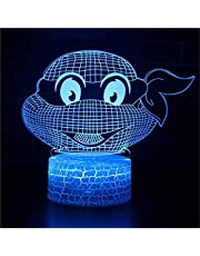 3D Night Light Creativity Optical Illusion Lamp for Boys Girls Table Desk Lamp 16 Color Change Decor Lamp