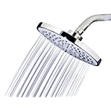 "RainLuxe Rainfall Shower Head Drenching Waterfall High Pressure Jets 8"" Wide High Flow Chrome Finish"