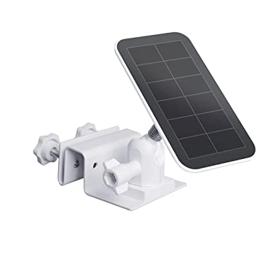 Outdoor Gutter Mount for Arlo Pro Solar Panel, Arlo Pro 3 Solar Panel, Arlo Ultra Solar Panel - by TIUIHU - Compatible with Any Other Solar Panel with 1/4 Screw - Durable and Simple (White,1-Pack): Camera & Photo