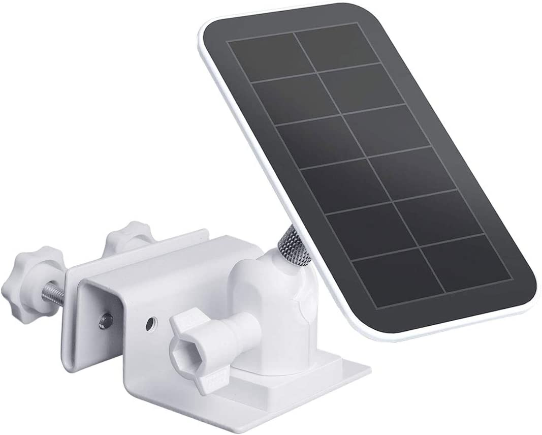Koroao Gutter Mount Compatible with Arlo Pro Solar Panel 2-Pack,Black The Best Wall Mount Bracket Accessories Reolink Argus 2 Arlo Ultra Solar Panel Arlo Pro 3 Solar Panel