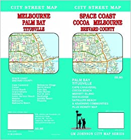 Space Coast Florida Cocoa Melbourne Brevard Co Street Map