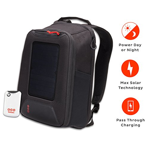 nverter 5 Watt Solar Panel Backpack with Backup Battery Pack - Matte Black | Powers Phones, USB Devices, & More | Charge Your Device as Fast as at Home (Solar Power Backpack)