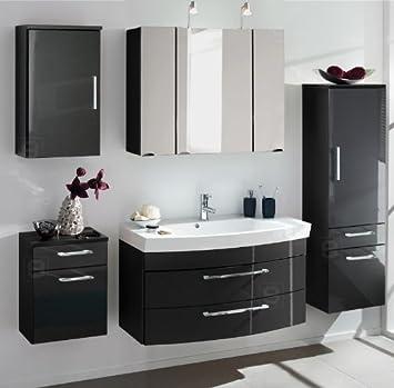 Badezimmer Hochglanz anthrazit Waschbecken Badezimmer ...