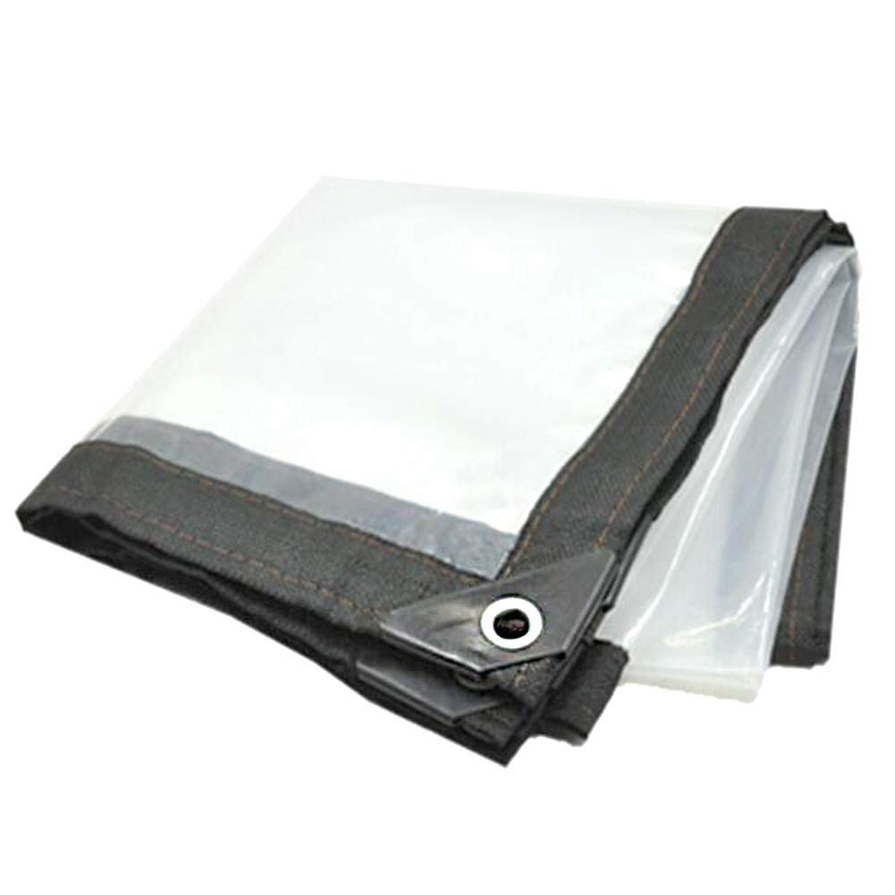 4x6M LQQFF Transparent tarpaulin Transparent tarpaulin heavy ribbed plate market stall Dust and rain cover (Size   4x6M)