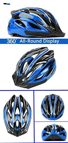Ultralight Helmet Eps Adjustable Integrally-Molded Road Bike / Bicycle / Mtb Cycling Helmet - Blue