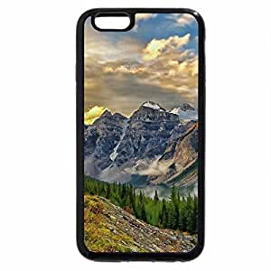 iPhone 6S / iPhone 6 Case (Black) road to a gorgeous mountain landscape hdr