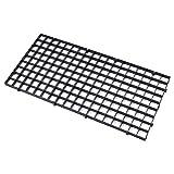 SODIAL Grid Divider Tray Aquarium Fish Tank Bottom Isolate, 1PCS Black