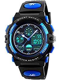 Youth Watches Boys Girls Water-Resistant Sports Digital Wrist Watch for Teenager Students, Blue