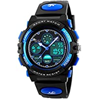 HIwatch Youth Watches Boys Girls Water-resistant Sports Digital Wrist Watch for Teenager Students,Blue