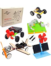 CYOEST DIY 5 Set STEM Lab&Science Kits Toys for Kids, Electric Motor Assembly Solar Powered Kit, DIY Educational Engineering Experiments for Boys & Girls (5 Sets)
