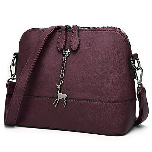 SiMYEER Stylish Crossbody Bags Shoulder Bag Purses for Women Small Ladies Handbags Messenger Bags (Wine)